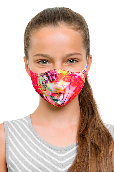 BLOCH CHILDRENS B-SAFE PRINT LANDYARD FACE MASK