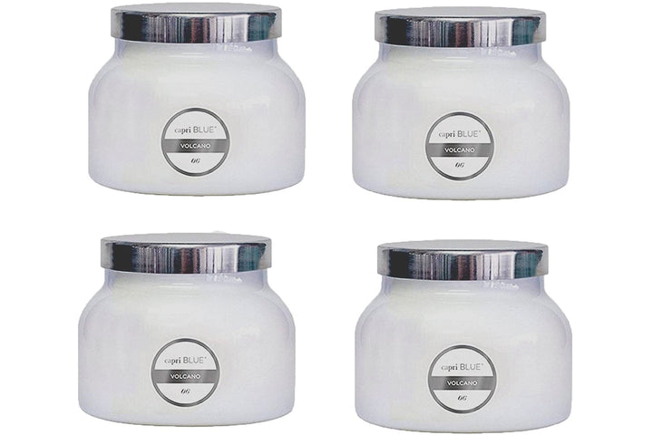 CAPRI BLUE 19 oz CAPRI BLUE SIGNATURE JAR VOLCANO (4 PACK) WHITE