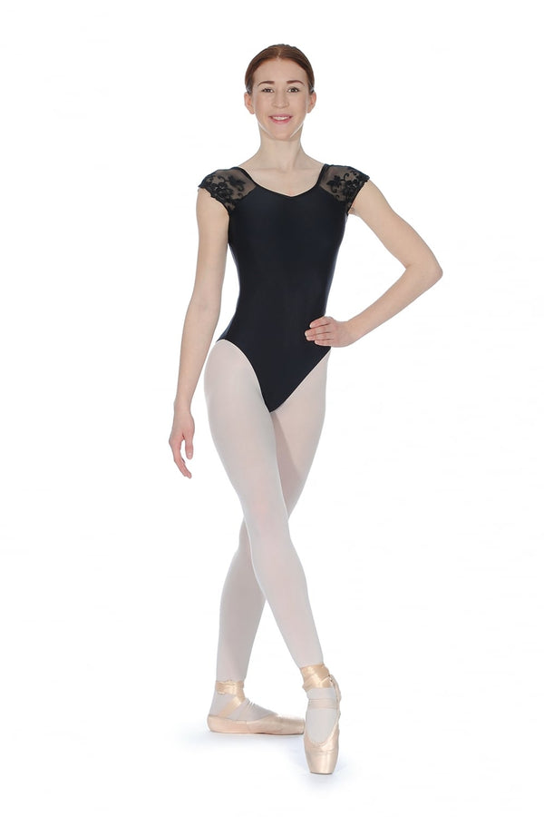 BALLET ROSA JOSEPHINE LADIES LUXURIOUS LACE CAP SLEEVE LEOTARD