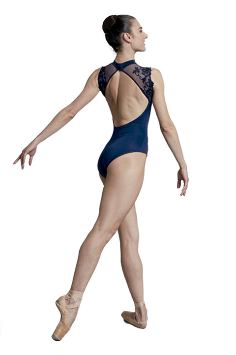 BALLET ROSA BERENICE LADIES MAILLOT WITH LACE TANK LEOTARD