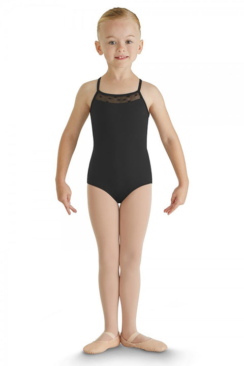 BLOCH CL8887 CARME HEART MESH ACTION BACK CAMISOLE LEOTARD