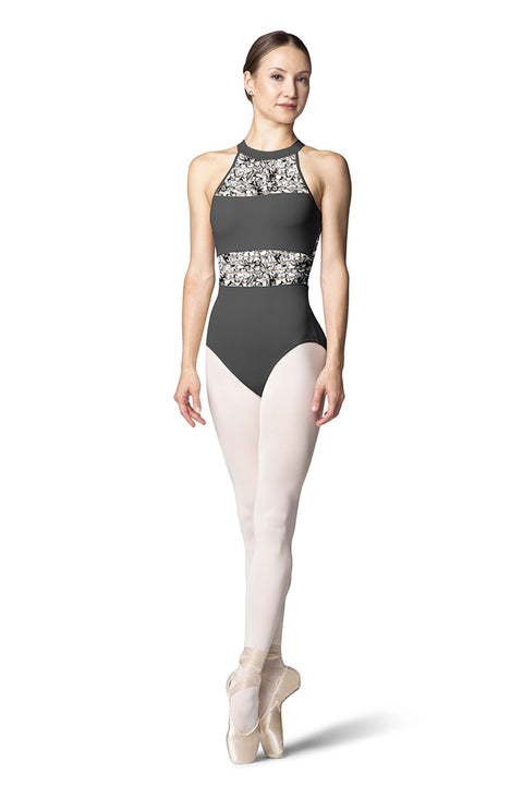 BLOCH L9805 WOMEN OPEN BACK HALTER TANK LEOTARD