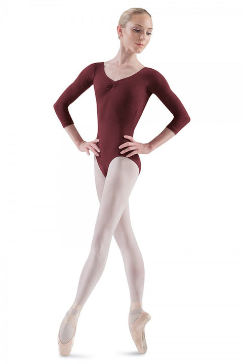 BLOCH L5436 WOMEN BALLON CLASSIC BALLET 3/4 SLEEVE LEOTARD