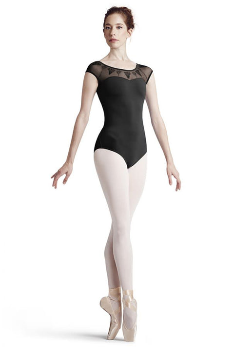 BLOCH L7772 WOMEN SAVIERA BUTTON BACK CAP SLEEVE LEOTARD