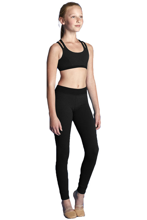 BLOCH BM232T KIDS TEXTURED CROP TOP