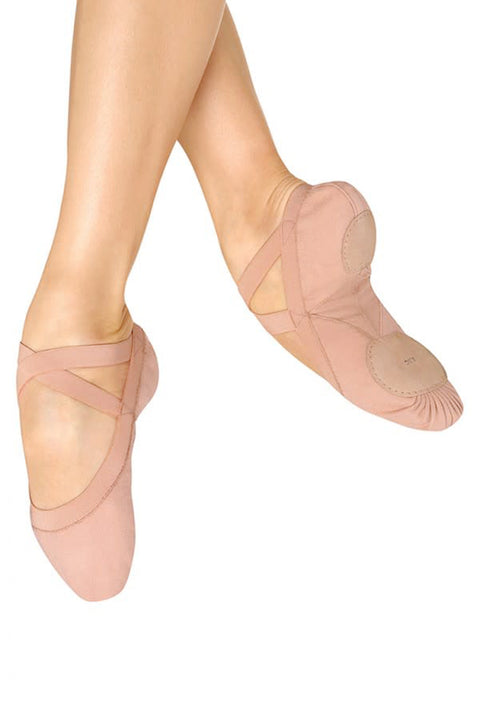 BLOCH S0621G GIRLS PRO ELASTIC FLEX CANVAS BALLET SHOE