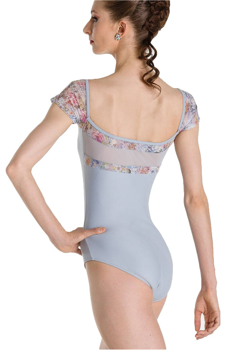 WEAR MOI ERELL WOMEN PRINT FLOWERS CAP SLEEVE LEOTARD