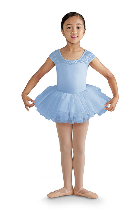 MIRELLA M1505C BOW BACK CAP SLEEVE TUTU LEOTARD DRESS