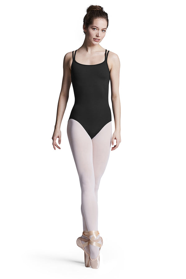 BLOCH TWL9917 TWEEN DOUBLE STRAP CROSS BACK FLOWER MESH LEOTARD