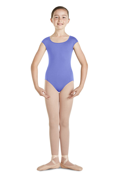 MIRELLA M1509C GIRLS SCALLOP BACK CAP SLEEVE LEOTARD