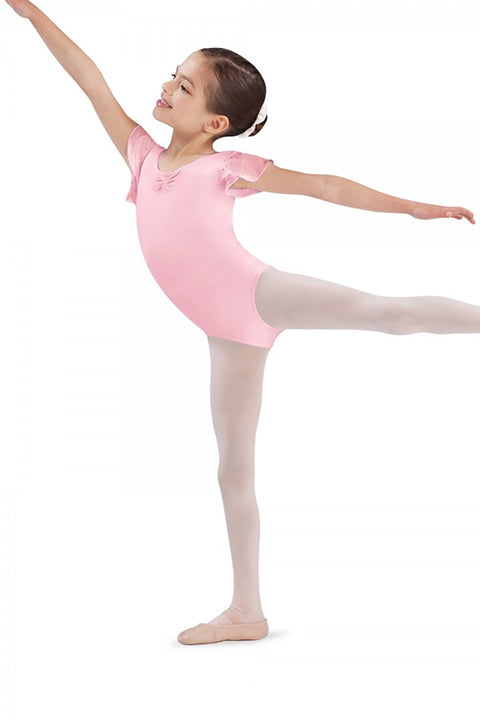 BLOCH CL3732 SCARLETT SPARKLE SHORT SLEEVE LEOTARD