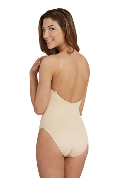 CAPEZIO 3532 CAMISOLE LEOTARD WITH CLEAR TRANSITION STRAPS