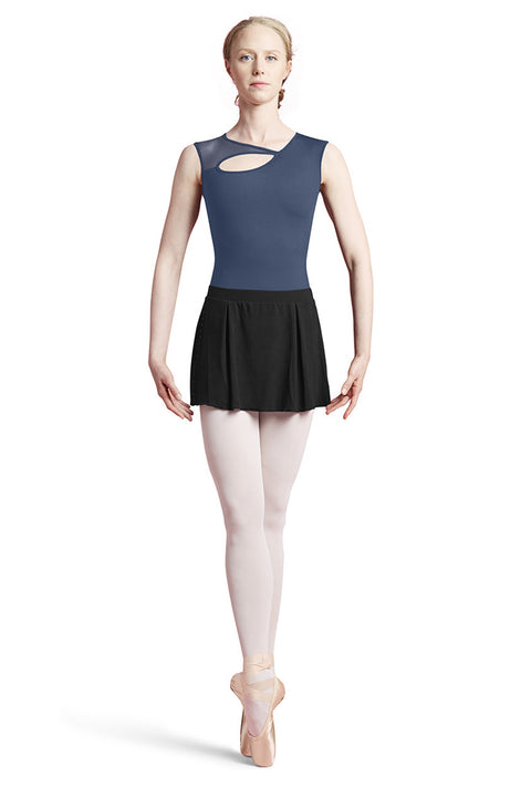 BLOCH L8922 WOMEN TYCE KEYHOLE FRONT CAP SLEEVE LEOTARD