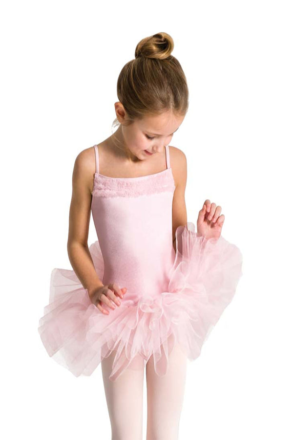 CAPEZIO 11307C GIRLS RUFFLE YOKE TUTU DRESS