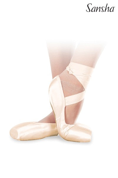 SANSHA DP801 AMERICAN SOFT-TOE DEMI POINTE SHOE