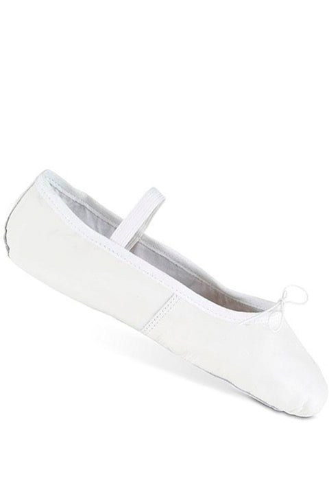 DANSHUZ 321 GIRLS DELUXE WHITE LEATHER BALLET SHOE