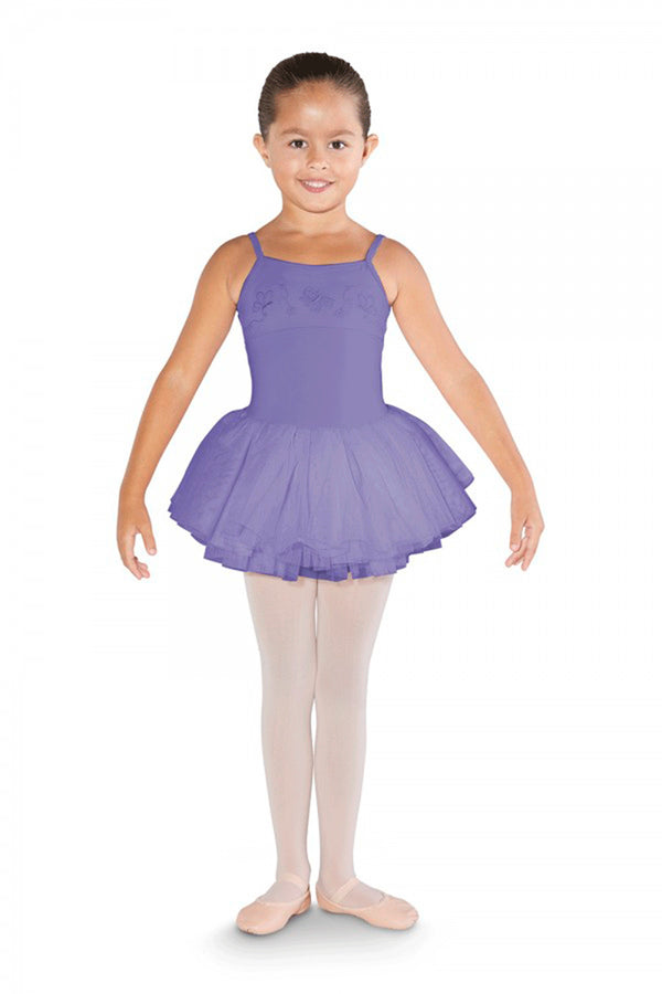 BLOCH CL3567 GIRLS BOW BACK CAMISOLE TUTU DRESS