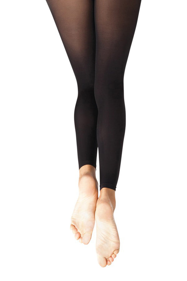 CAPEZIO 1917CGIRLS FOOTLESS TIGHT W SELF KANIT WAIST BAND