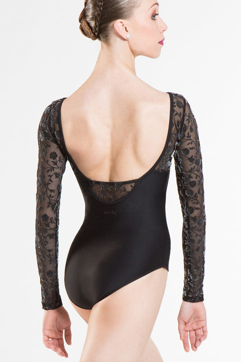 WEAR MOI SIBELLE WOMEN FLOCKED LEOTARD