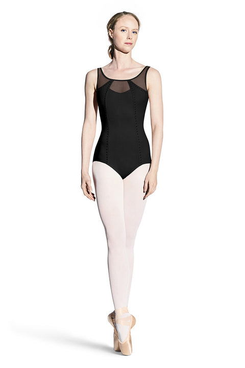 BLOCH L8925 WOMEN FIFI PEARL STUDDED TANK LEOTARD
