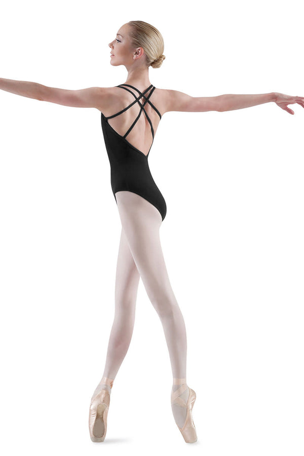 BLOCH L3617 WOMEN MAILLOT BALLET DOUBLE STRAP LEOTARD