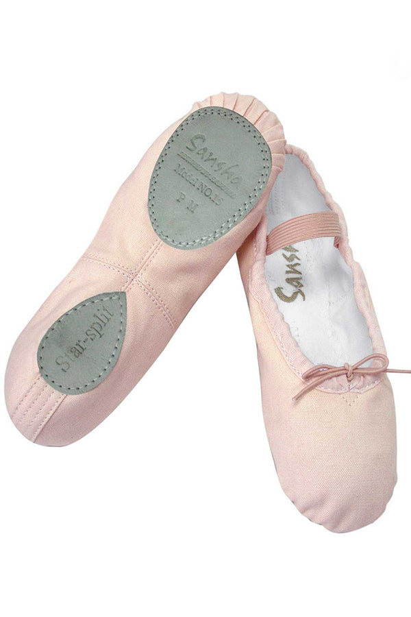 SANSHA 15C STAR SPLIT SOLE BALLET SHOES