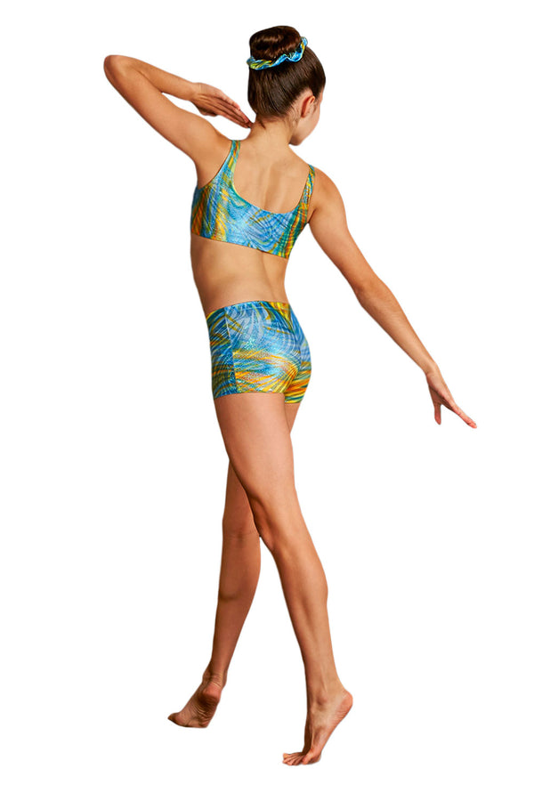 LEO'S GB133C GIRLS MIRAGE FOIL SHORT