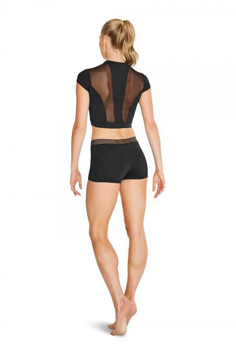 BLOCH FT5104 KAMIE WOMENS ZIP FRONT CROP TOP