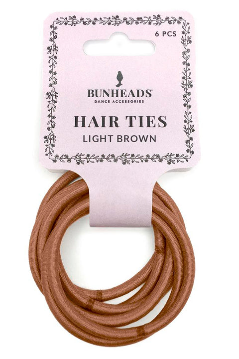 CAPEZIO Hair Elastics - Light Brown