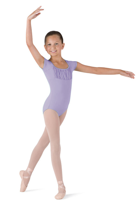 BLOCH CL7370 ALEXIS GIRL'S CAP SLEEVE LEOTARD