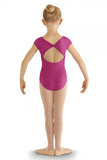 BLOCH CL8822 DELPHINIUM BOW BACK CAP SLEEVE LEOTARD