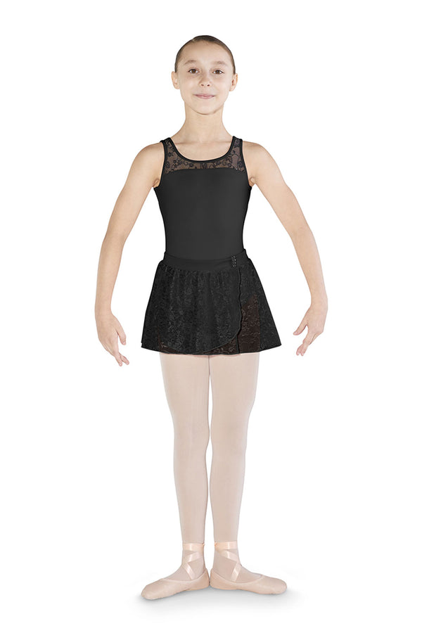 MIRELLA MS130C GIRLS PULL ON MESH WRAP SKIRT