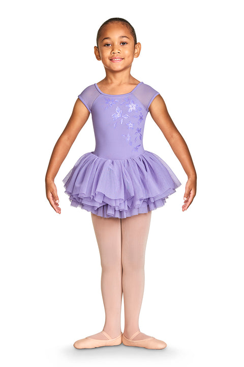 BLOCH GIRLS SHIRINA MESH CAP SLEEVE TUTU DRESS