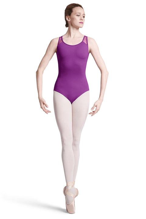 BLOCH L7775 WOMEN ADITI SPOT MESH BACK TANK LEOTARD