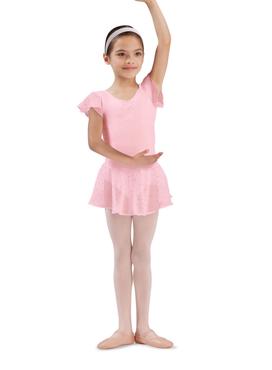 BLOCH CR5161 OLESIA GIRL'S PULL-ON GEORGETE SEQUIN SKIRT