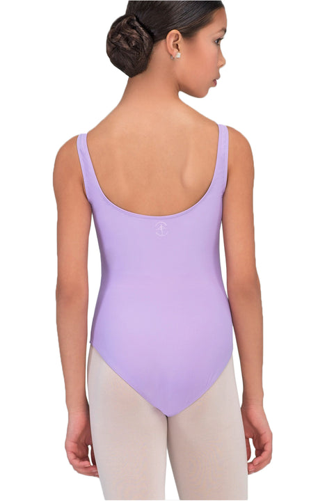 WEAR MOI FAUSTINE GIRLS MICROFIBER TANK LEOTARD