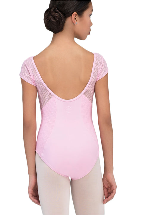 WEAR MOI BRESKIA GIRLS MICROFIBER ELASTHAN CAP SLEEVE LEOTARD