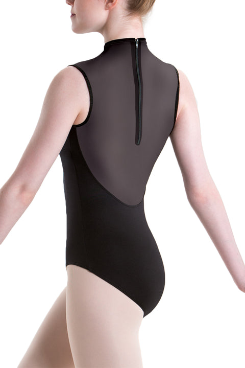 MOTIONWEAR 2648 GIRLS HIGH NECK ZIP BACK LEOTARD