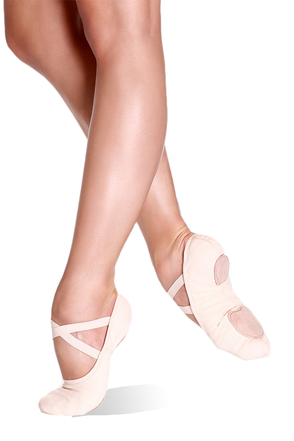 SO DANCA SD16 ADULT CANVAS SPLIT SOLE BALLET SLIPPER