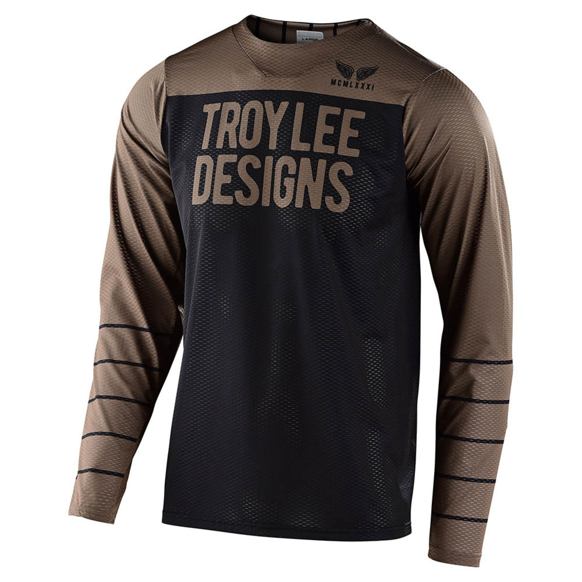 SKYLINE AIR LS JERSEY; PINSTRIPE BLACK / WALNUT MD