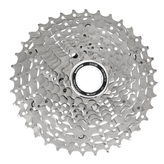 CASSETTE SPROCKET, CS-HG50-10, 10-SPEED 11-13-15-17-19-21-24-28-32-36T, 1 SET=10PCS IN SEMI-BULK PACK