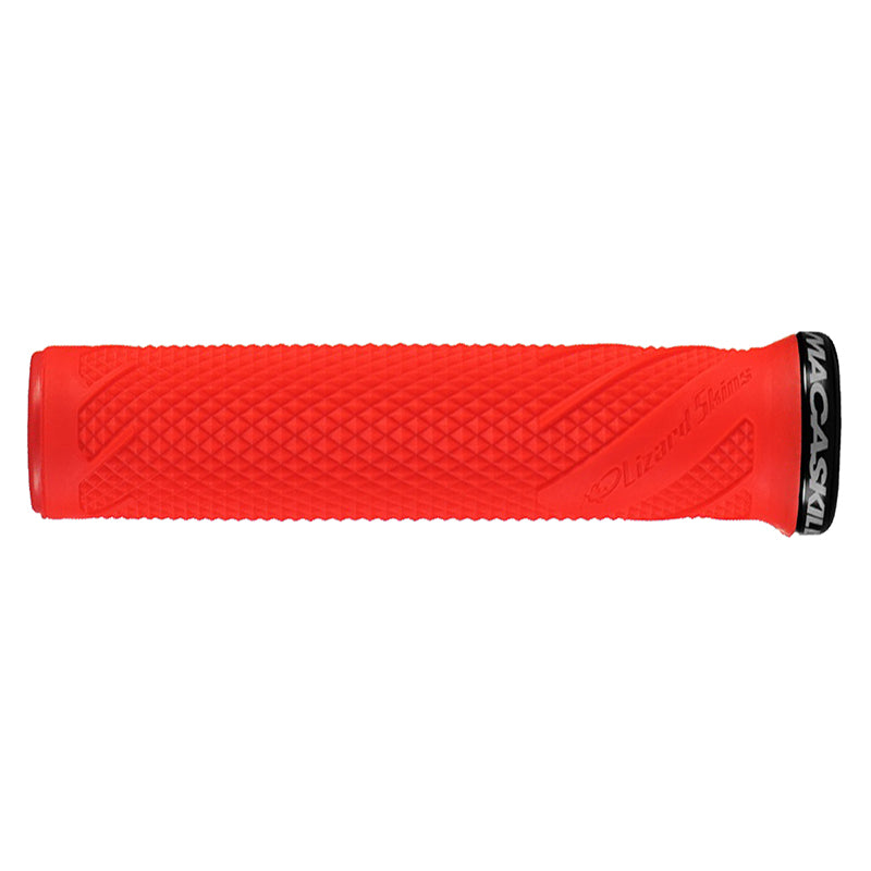 Danny Macaskill Lock On Grips Red w/ Black Clamps