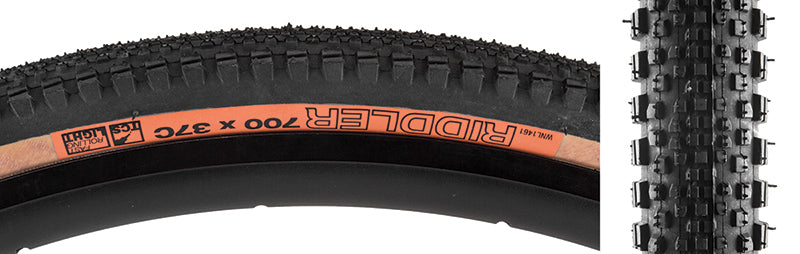 WTB Riddler 700c Tire - 700 x 37, Clincher, Folding, Black/Tan, Light, Fast Rolling
