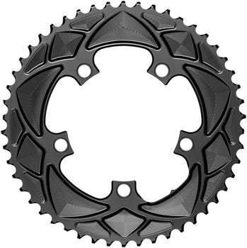absoluteBLACK Premium Round 110 BCD Road Outer Chainring - 50t, 110 BCD, 5-Bolt, For 50/34 Combination, Black