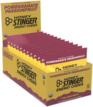 Honey Stinger Organic Energy Chews: Pomegranate, Passion Fruit