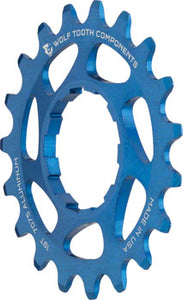 "Wolf Tooth Single Speed Aluminum Cog: 19T, Compatible with 3/32"" Chains, Blue"