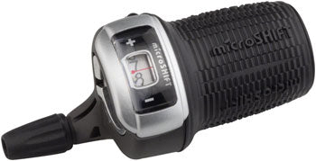 microSHIFT DS85 Right Twist Shifter, 9-Speed, Optical Gear Indicator, Shimano Compatible