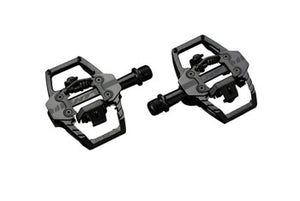 "HT T1-SX BMX-SX Pedals - Dual Sided Clipless with Platform, Aluminum, 9/16"", Stealth Black"