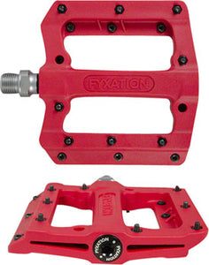 "Fyxation Mesa MP Pedals - Platform, Composite/Plastic, 9/16"", Red"
