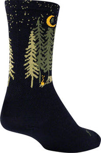 SockGuy Wool Camper Socks - 6 inch, Black, Large/X-Large